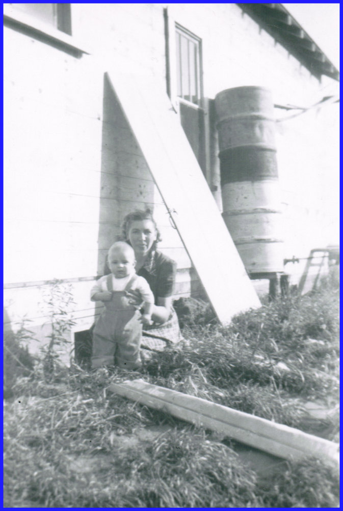 Michael Demoskoff with his mother Ann in about 1954