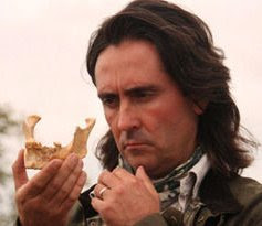 Neil Oliver inspects an ancient jawbone