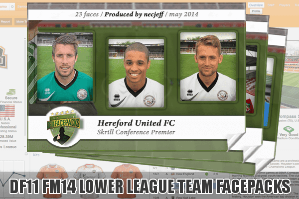 Football Manager 2014 Lower League Team Facepacks