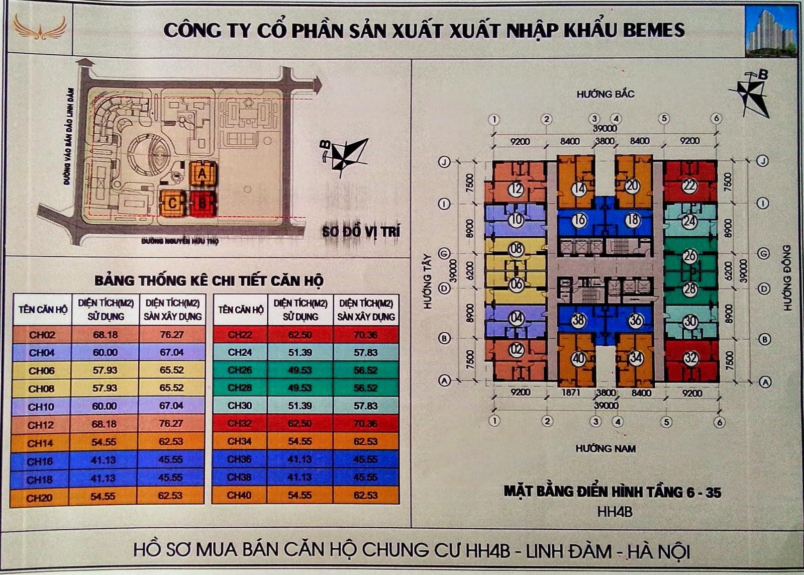 thiết kế căn hộ HH4B linh đàm