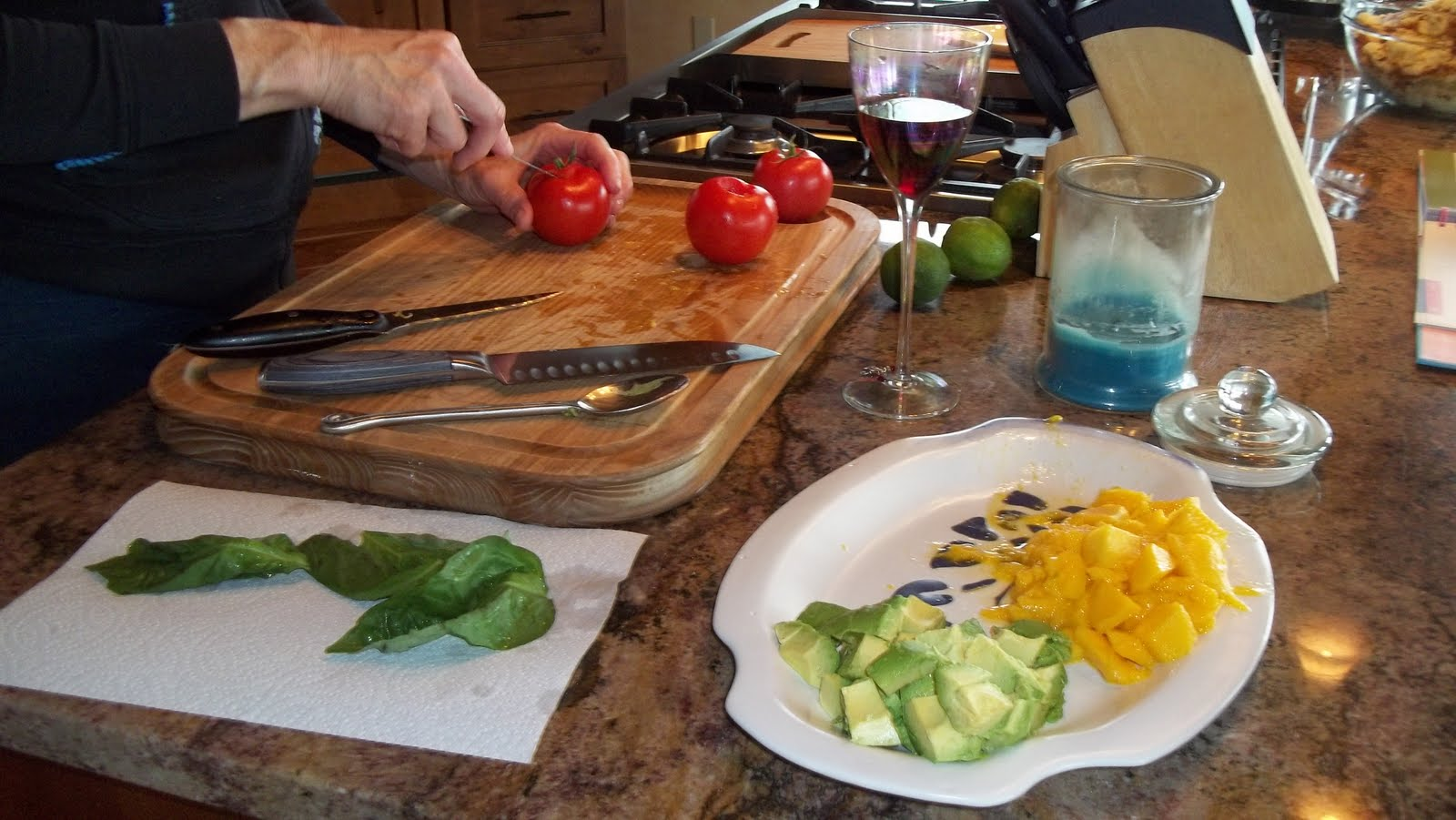 My Oh My!: Grilled Halibut with Mango-Avocado Salsa