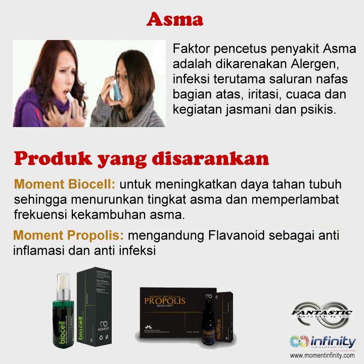 Pengobatan penyakit ASMA dengan produk Moment