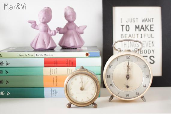 Rincones de mi casa: relojes vintage