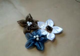 dekorační květy z organzy