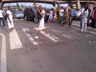 NIS applicants block roads in Lagos