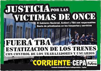 Juicio por las victimas de Once. Fuera TBA. Estatización de los trenes!