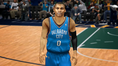 NBA 2K14 Russell Westbrook Cyber Face Patch
