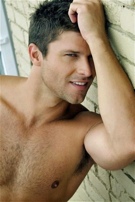 Handsome Man's Hairy Jock Pits