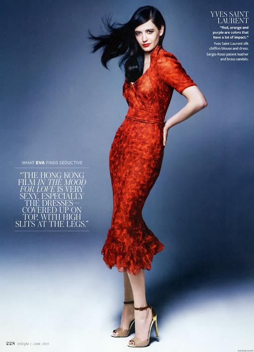 eva green instyle magazine june glamour images