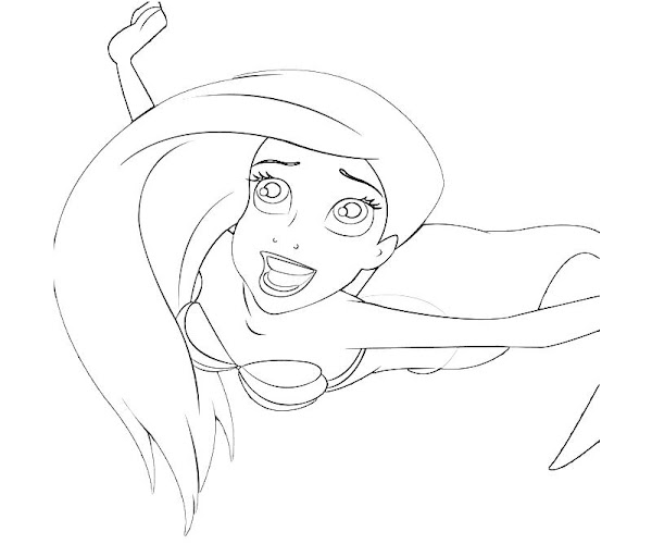 little mermaid sisters coloring pages - photo#16