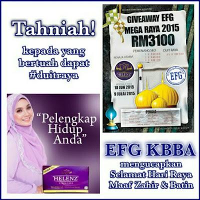 Senarai Pemenang Giveaway EFG Mega Raya 2015