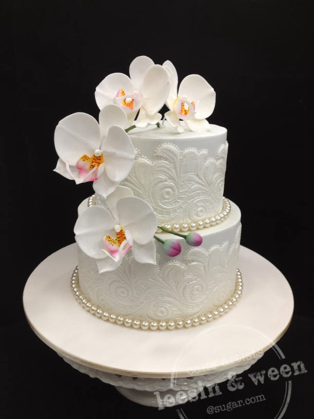 penang wedding cakes by leesin moth orchid wedding cake