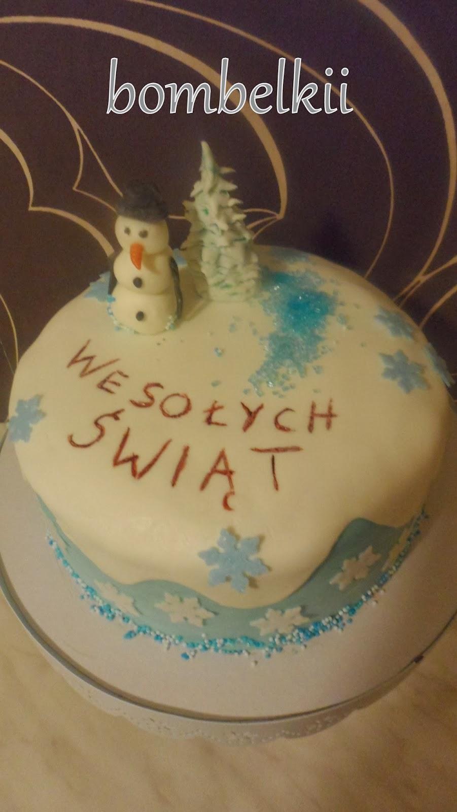 Schneemann Torte