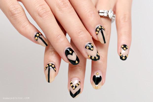 manicure monday graphic nail art