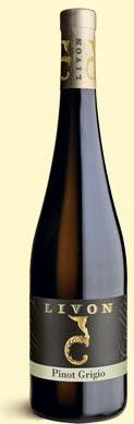 bottle of Livon Pinot Grigio