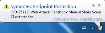 Ataque web desde SecretosDeFacebook - MasFB