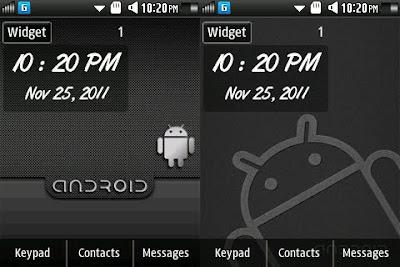 Samsung Corby 2 Widget: Minimal & Italic | Samsung Corby 2 GT - S3850