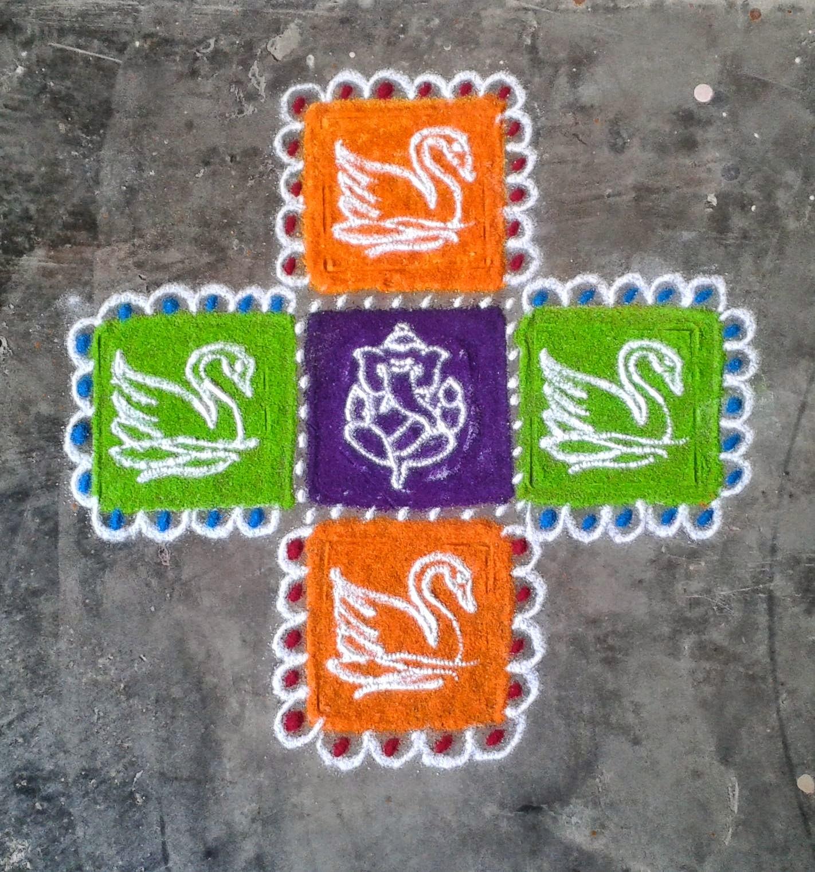 Kids Rangoli Designs 21