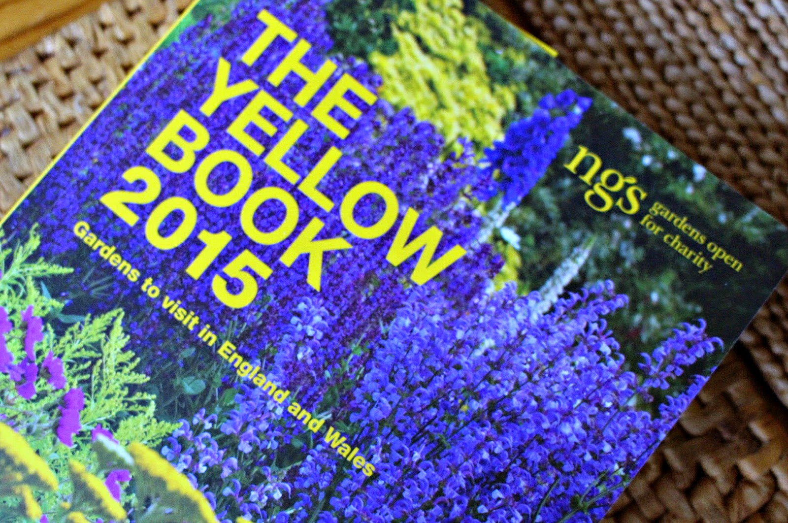 Photo of the Yellow Book which details all the gardens open for the NGS