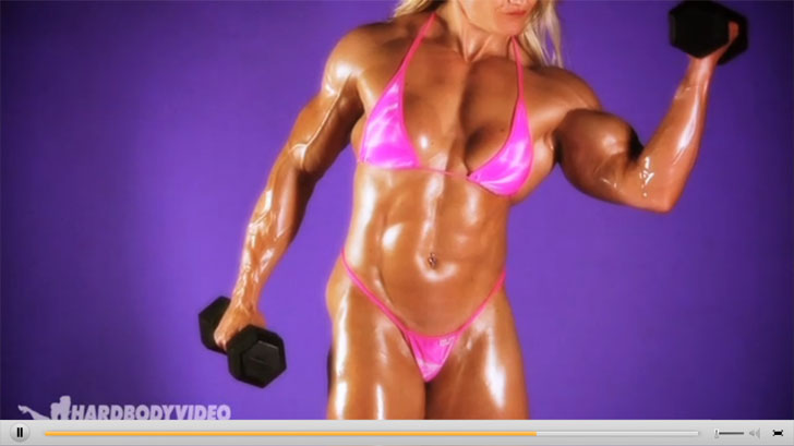 Video Of IFBB Pro Bodybuilder Brigita Brezovac Working Out Her Ripped Muscles In A Bikini