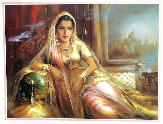 Rajasthani Girls Art Paintings 28