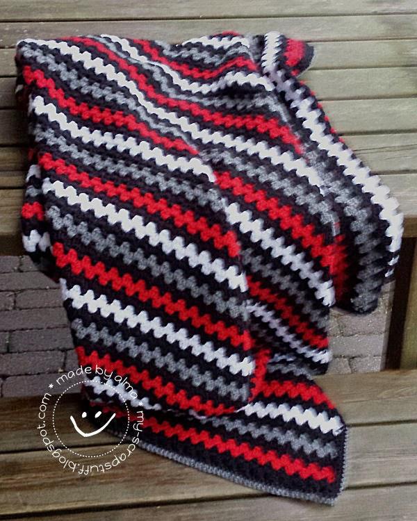 Granny Stripes Deken No 2 Simply Made By Alma