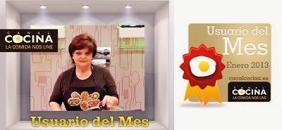 Usuaria del mes de enero en Canal COCINA
