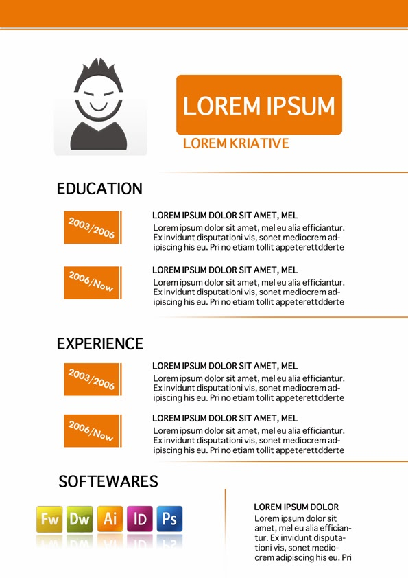 graphic design resume template