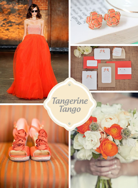 Be True: 2012 Pantone Spring Color Forecast Revealed! Tangerine Tango Wedding