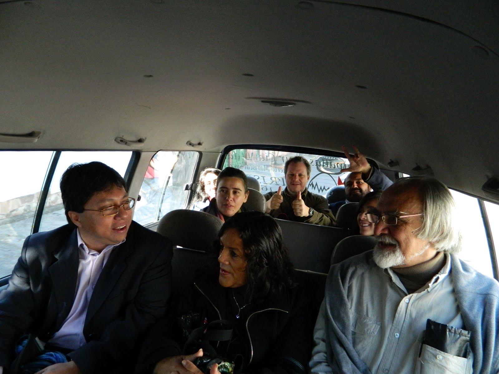 Con Armando Bartra, Yolande Masieu, Pilar Lizárraga, Carlos Rodríguez Wallenius y Carlos Vacaflores