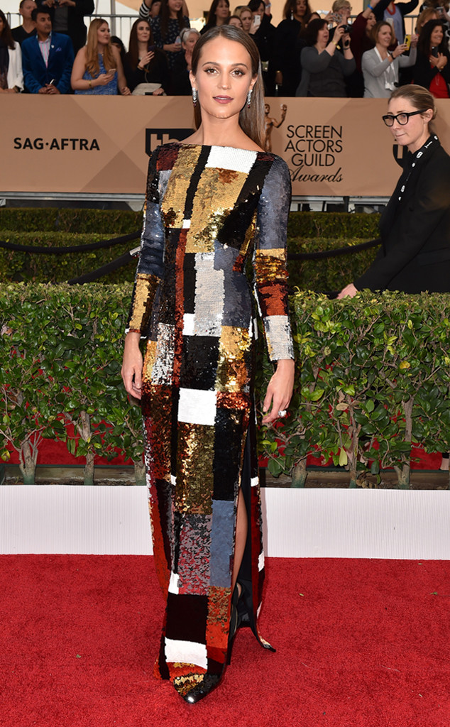 Best Dressed-SAG Awards 2016, Alicia Vikander at SAG Awards 2016