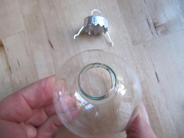 Christmas Ornaments Clear Glass : Sew many ways fillable glass christmas ornaments
