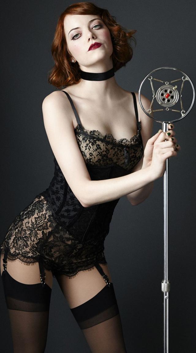 Emma Stone en lencería