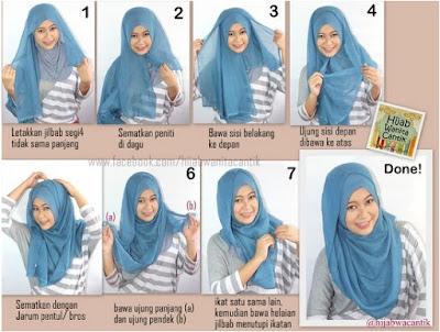 Tata Cara Pakai Hijab Paris Modern