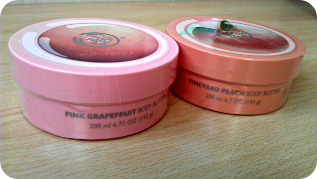 the body shop pink grapefruit vineyard peach body butters
