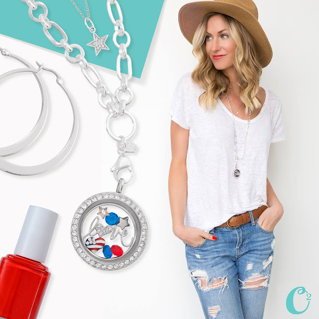 Patriotic Love Origami Owl Living Locket | Come create yours today at StoriedCharms.com