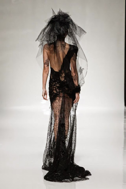 Dramatic in Black Anna Romysh Evening Gowns