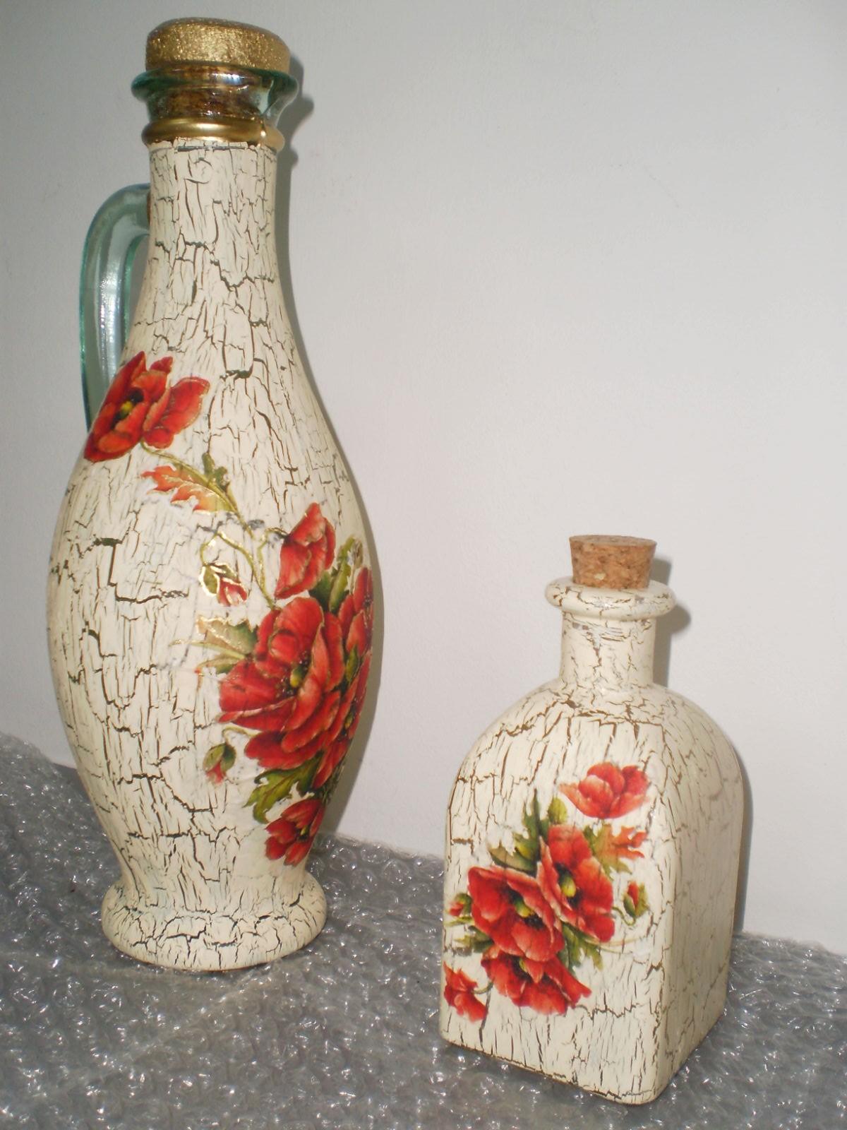 Reciclando hoy botellas de vidrio taringa - Decorar botellas de cristal ...