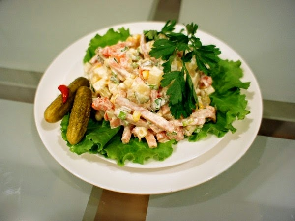 [Salad] Tự làm Salad Nga vị dứa thơm ngon ngậy vô cùng