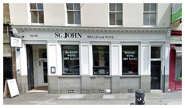 St John Bread and Wine Spitalfields Outside Street View