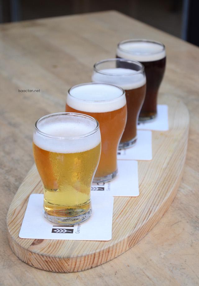 Paulaner Draft Bier Sampler.