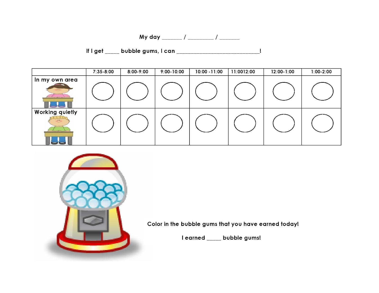 Lovin' Learning: Bubblegum Behavior Chart FREEBIE