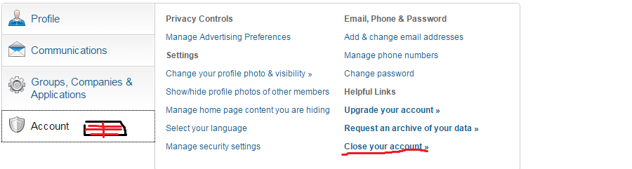 Delete linkedin account | How to disable linkedin account