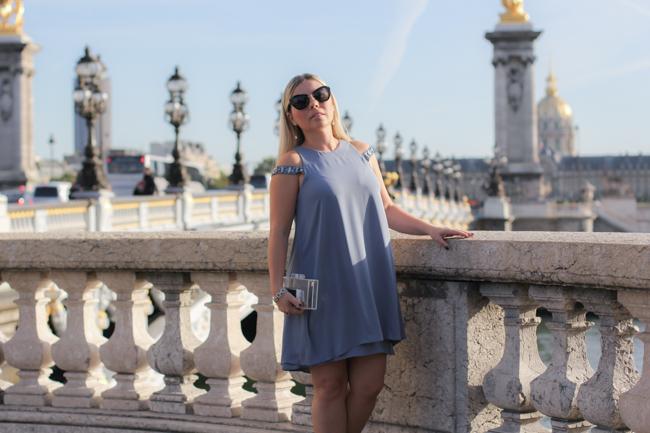 look of the day on bridge in paris