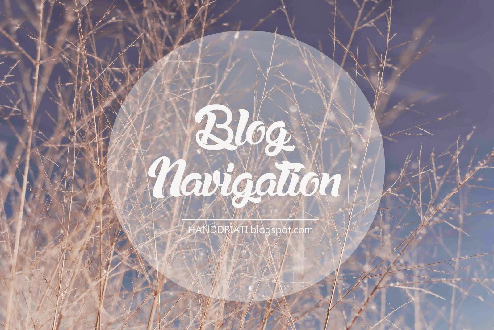 Permudah Pembaca Setiamu dengan Blog Navigation