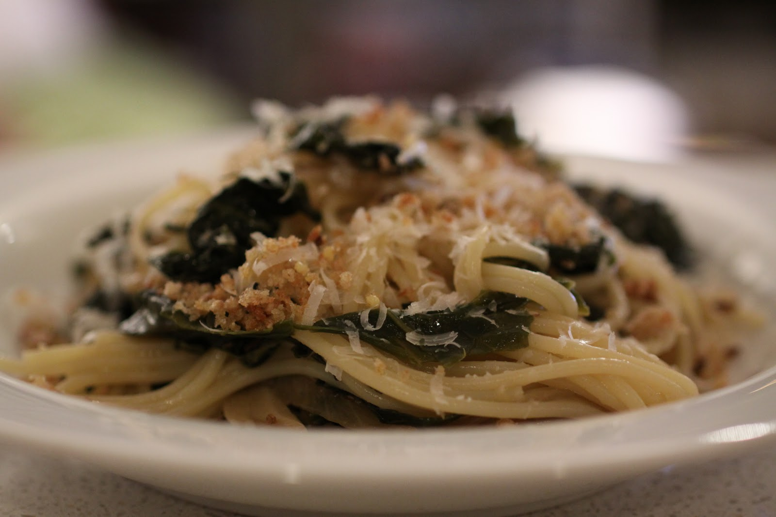 Braised Kale with Spaghetti, Pecorino, and Bread Crumbs :: Plate and ...