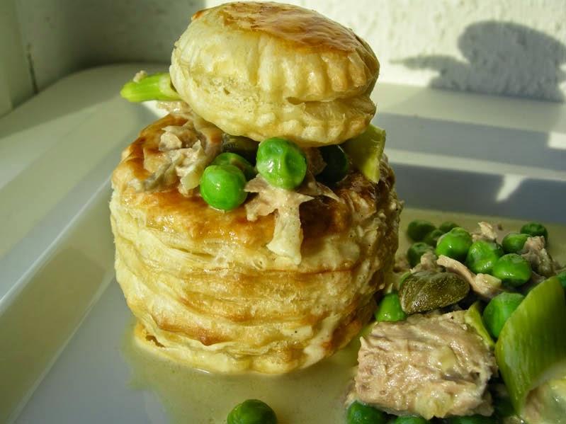 Thunfisch-Pastetchen mit Erbsen