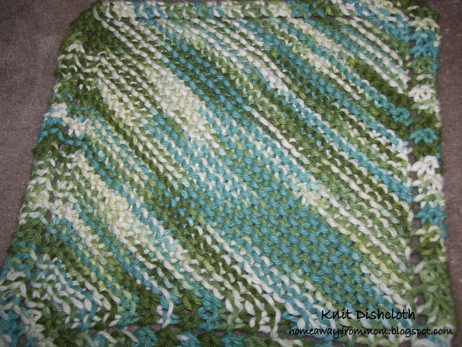 Knitting Yrn K2tog : Home away from mom knitting project a dishcloth