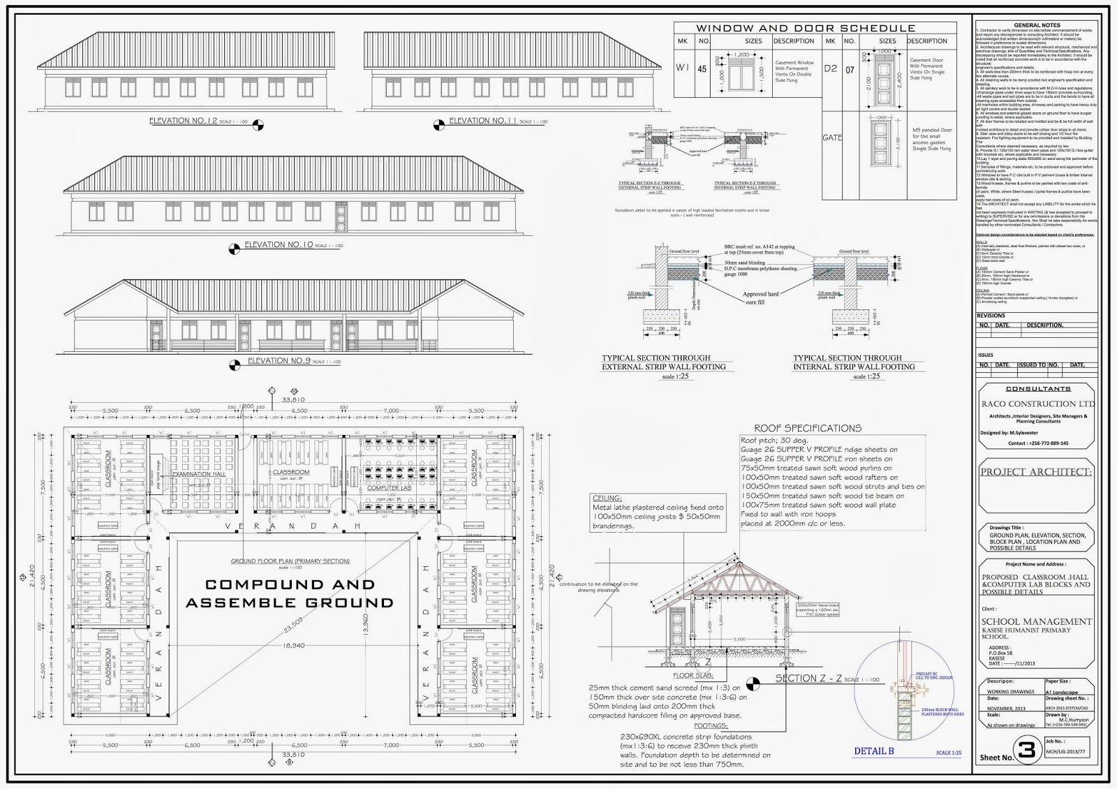 Classroom plan for new kasese humanist primary school