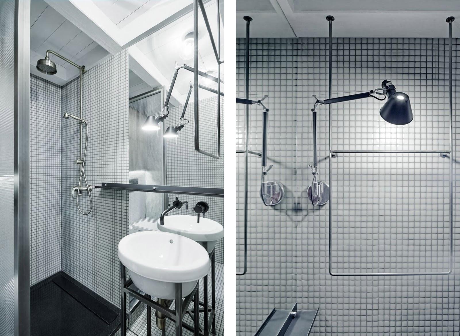 Progetto di due bagni e una cucina in un appartamento a praga by studio formafatal arc art - Lavandino bagno vetro ...